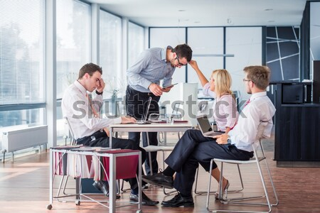 Negócio reunião do conselho moderno escritório reunião trabalhar Foto stock © zurijeta