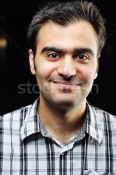 Middle eastern young man portrait Stock photo © zurijeta