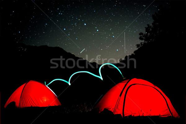 Lattiginoso modo cielo stelle montagna alto Foto d'archivio © zurijeta