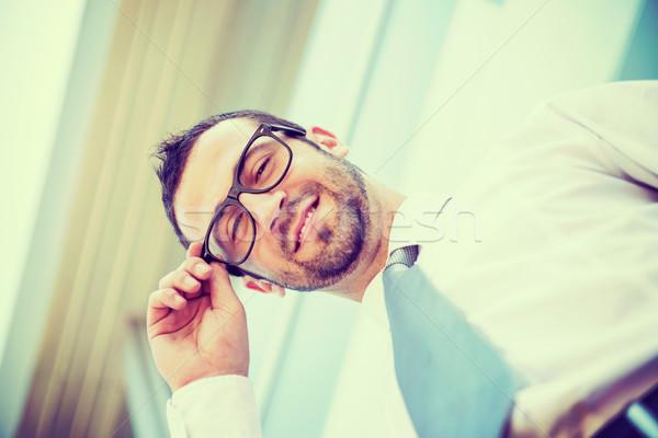 Portrait of succesful business man Stock photo © zurijeta