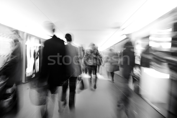People crowd in motion, city scene Stock photo © zurijeta