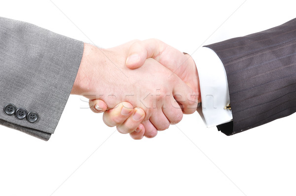 Two businessmen hands shaking Stock photo © zurijeta