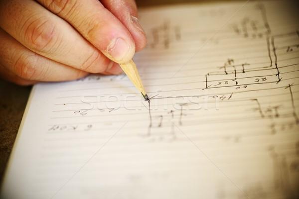 Handwritten craft plan on paper Stock photo © zurijeta
