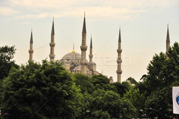 Kék mecset Isztambul építészet Stock fotó © zurijeta