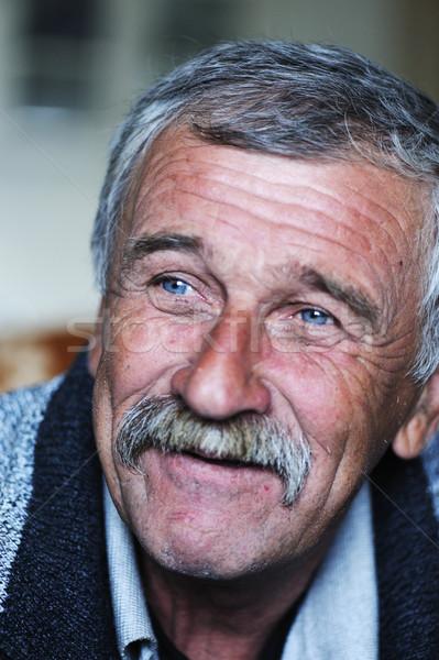 пожилого положительный человека усы природы портрет Сток-фото © zurijeta