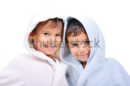 Beautiful happy childhood in robe, isolated Stock photo © zurijeta
