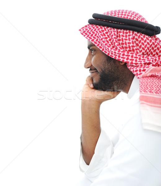 Feliz exitoso árabe empresario perfil retrato Foto stock © zurijeta