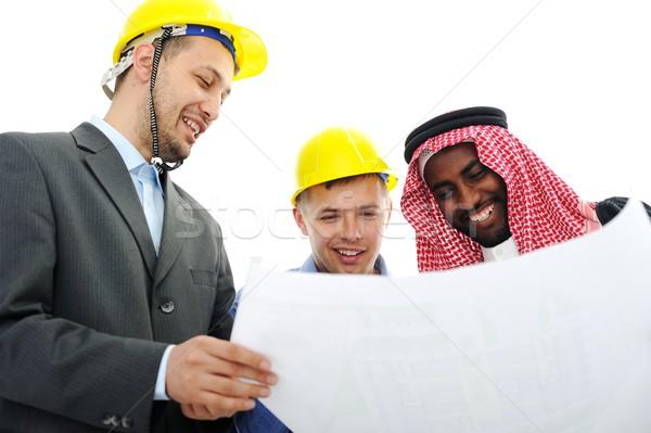 деловые люди новых проект средний Ближнем Востоке бизнеса Сток-фото © zurijeta