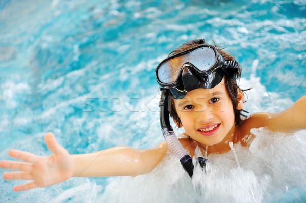 Gyönyörű medence nyár nagyszerű idő víz Stock fotó © zurijeta