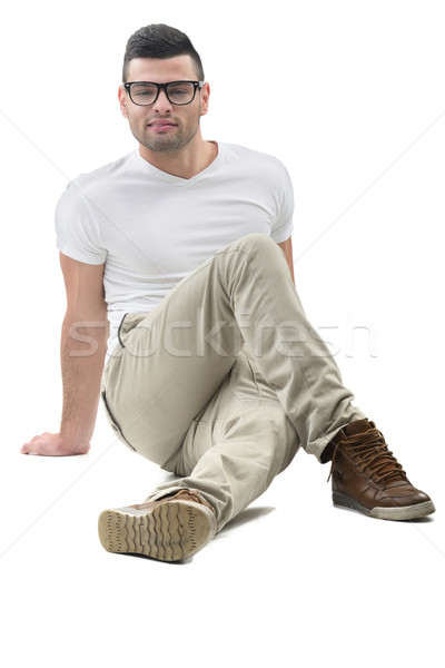 Modern looking male model sitting Stock photo © zurijeta