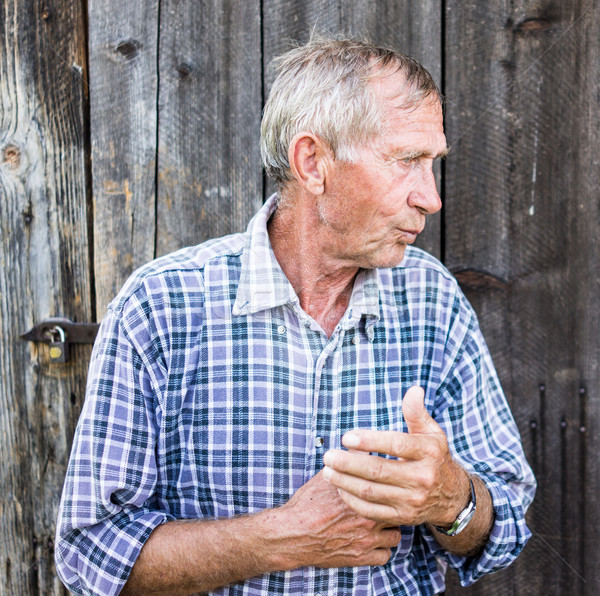 Senior man outdoors Stock photo © zurijeta