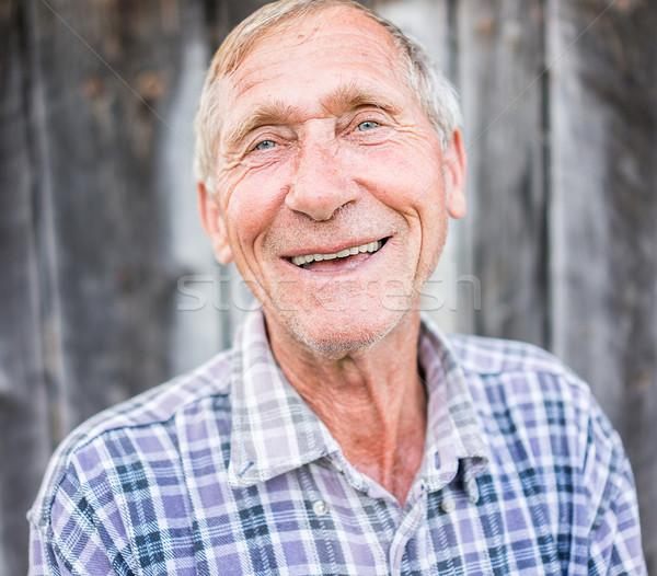 счастливым улыбаясь старший старший человека портрет Сток-фото © zurijeta