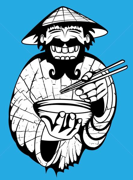 笑みを浮かべて 中国語 シェフ エキゾチック スープ ストックフォト © Zuzuan