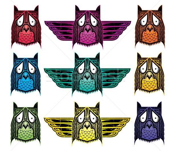 декоративный этнических индийской совы иллюстрация аннотация Сток-фото © Zuzuan