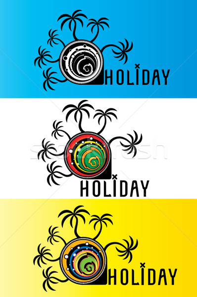 summer holiday design stamps  Stock photo © Zuzuan