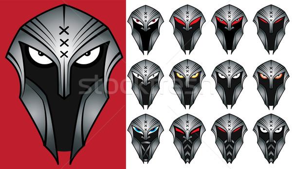 Spartaans krijger ontwerp postzegels gezicht macht Stockfoto © Zuzuan