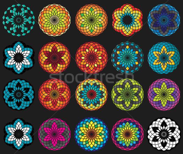 Virág dekoratív dísz terv szimbólum absztrakt Stock fotó © Zuzuan