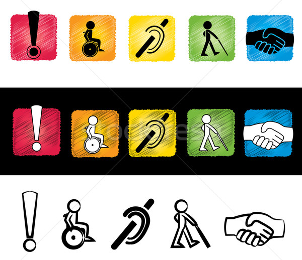 handicap sign illustration Stock photo © Zuzuan