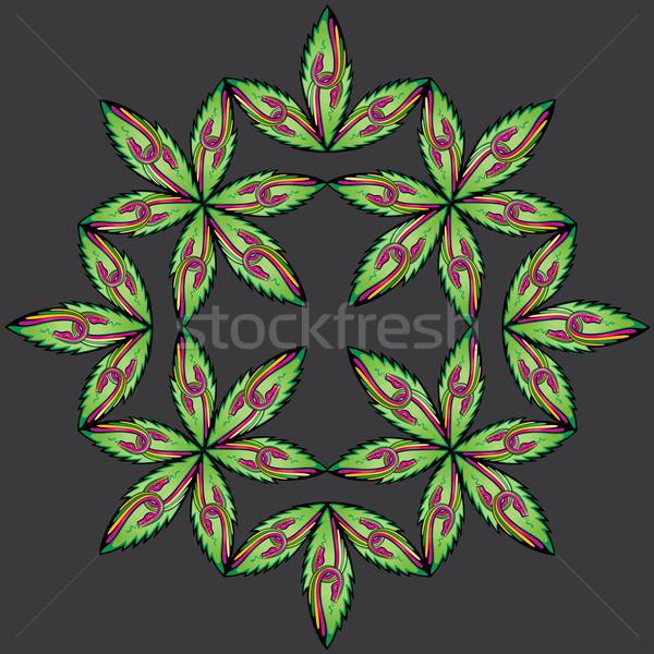 Ontwerp slang lichaam illustratie bloem Stockfoto © Zuzuan