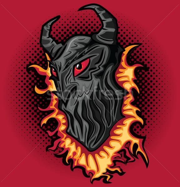 Хэллоуин ужас дьявол демон пламя текстуры Сток-фото © Zuzuan