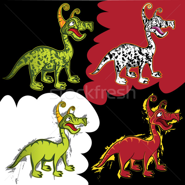 Fantasy cute curious little dragon creature  Stock photo © Zuzuan