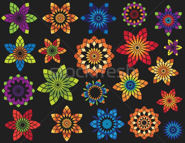 Photo stock: Floral · géométrique · ornement · design · modèle · résumé