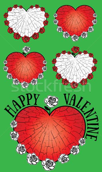 Szív alak Valentin nap grafikus szeretet szín öröm Stock fotó © Zuzuan