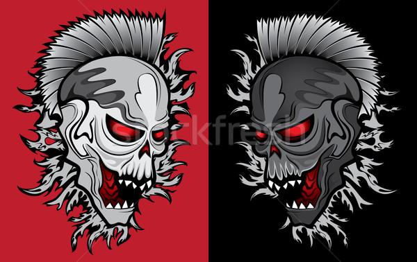zombie ghost halloween skull with glowing eyes Stock photo © Zuzuan