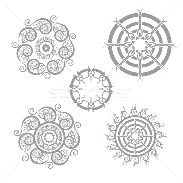 geometric whirly shape pattern Stock photo © Zuzuan