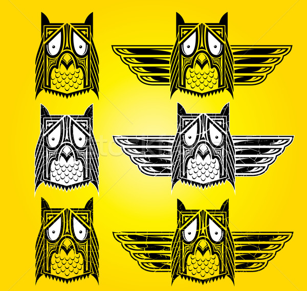 indian totem owl ornamental ethnic style illustration Stock photo © Zuzuan