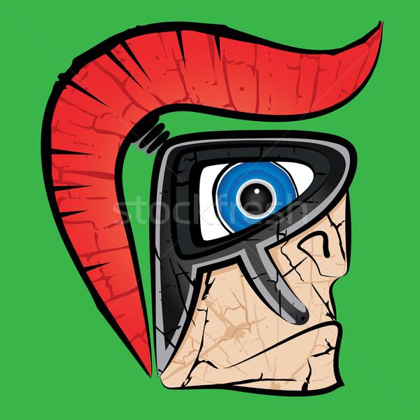 Spartan guerrier profile design pouvoir lutte Photo stock © Zuzuan