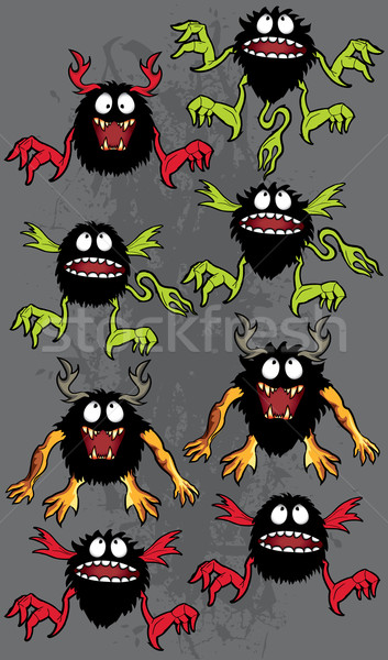 Cartoon halloween peludo mal mirar Foto stock © Zuzuan