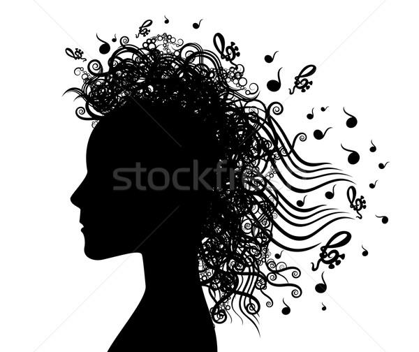 女性の顔 プロファイル 音楽 デザイン 女性 顔 ストックフォト © Zuzuan