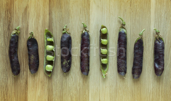 fresh hybrid variety of pea pods and peas Stock photo © Zuzuan