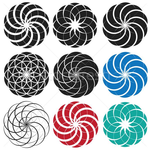 geometric swirly pattern Stock photo © Zuzuan