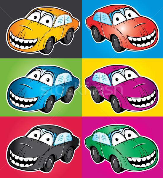 улыбаясь Cartoon автомобилей талисман иллюстрация улыбка Сток-фото © Zuzuan
