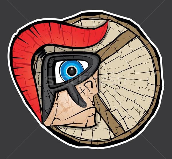 spartan centurion warrior profile design Stock photo © Zuzuan