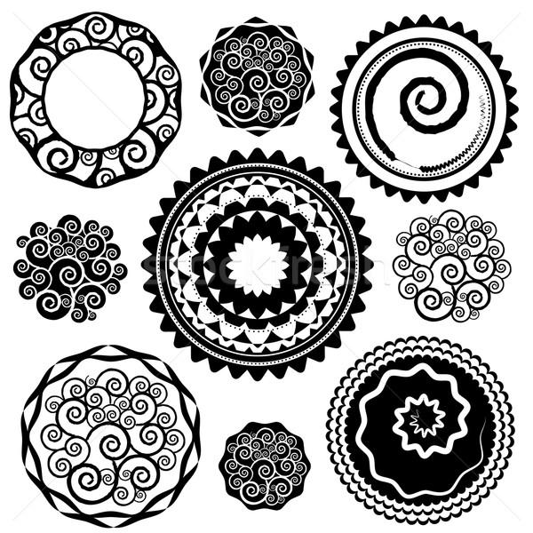 幾何学的な 飾り デザイン パターン 抽象的な 自然 ストックフォト © Zuzuan