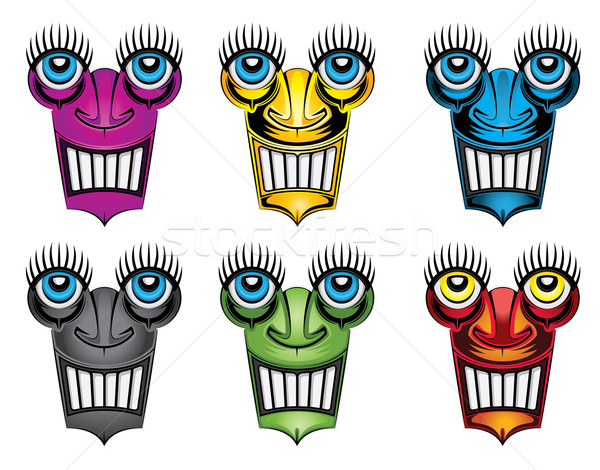 grinning robot creature face portrait  Stock photo © Zuzuan