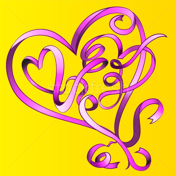 формы сердца Валентин графических любви цвета Сток-фото © Zuzuan