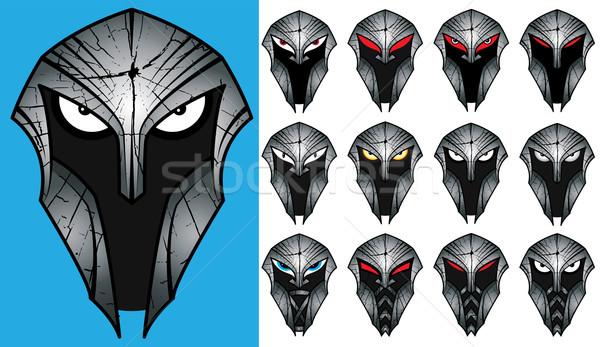 Oude spartaans helm textuur ontwerp macht Stockfoto © Zuzuan