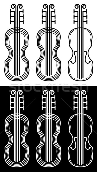 violin instrument silhouette design Stock photo © Zuzuan