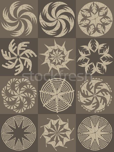 幾何学的な 装飾的な デザイン ストックフォト © Zuzuan