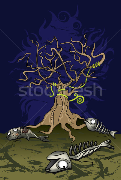 ecology disaster with dead fish  Stock photo © Zuzuan