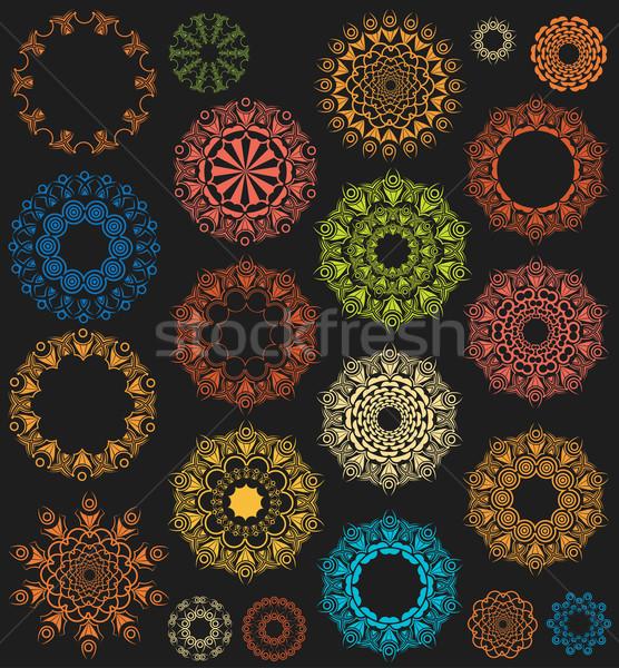 Mértani dekoratív dísz terv minta absztrakt Stock fotó © Zuzuan