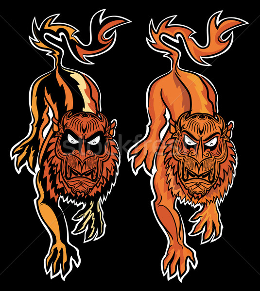 Stock photo: lion beast demon illustration
