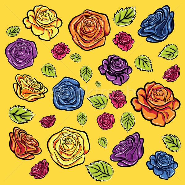 цветок роз весны сезон дизайна иллюстрация Сток-фото © Zuzuan