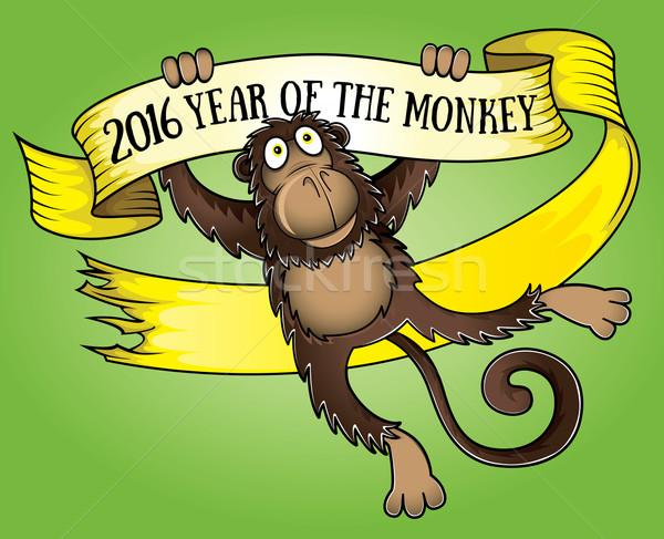 китайский год обезьяны бумаги выделите лента Сток-фото © Zuzuan