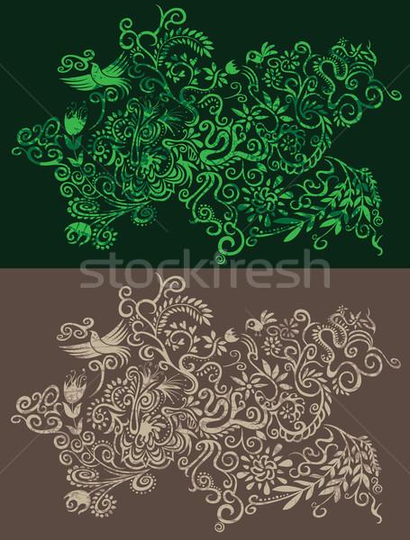 Decoratief seizoen- patroon bloemen bladeren Stockfoto © Zuzuan
