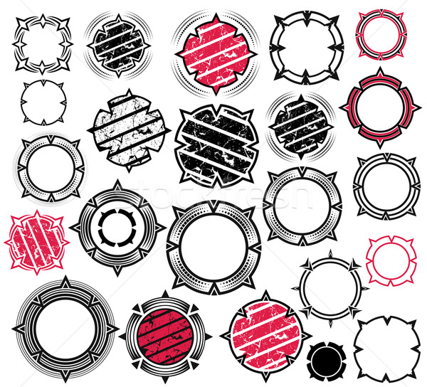 Photo stock: Géométrique · anneau · ornement · design · fleur · résumé